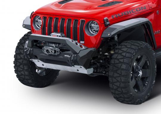 Rival 4x4 Aluminum Stubby Bumper on JL